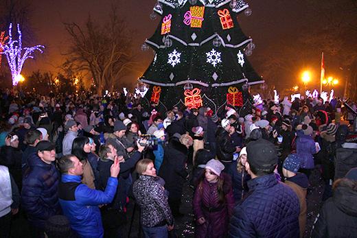 В Одессе зажгли главную новогоднюю ёлку (ФОТО), фото-3