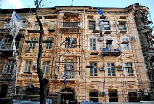5 В Одессе взялись за реставрацию здания, в котором расположен всемирный клуб одесситов
