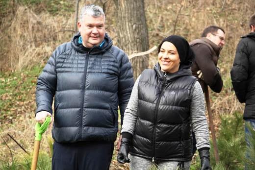 21 В Одессе на приморском склоне высадили сосновый бор
