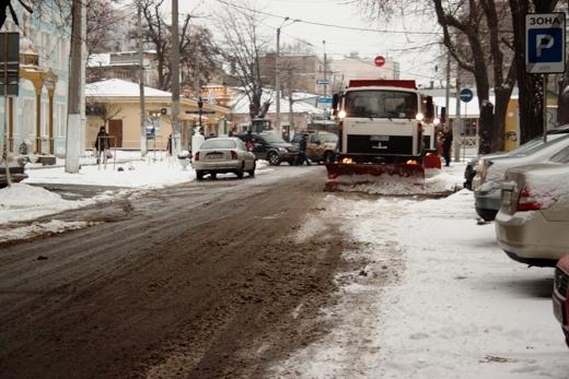 В Одессе коммунальщики убирают снег (ФОТО), фото-10