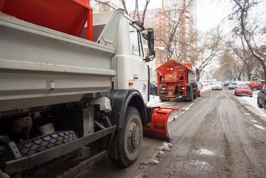 В Одессе коммунальщики убирают снег (ФОТО), фото-16
