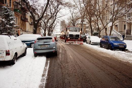 В Одессе коммунальщики убирают снег (ФОТО), фото-13