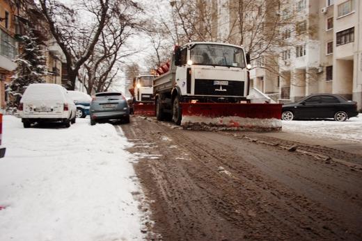 В Одессе коммунальщики убирают снег (ФОТО), фото-4