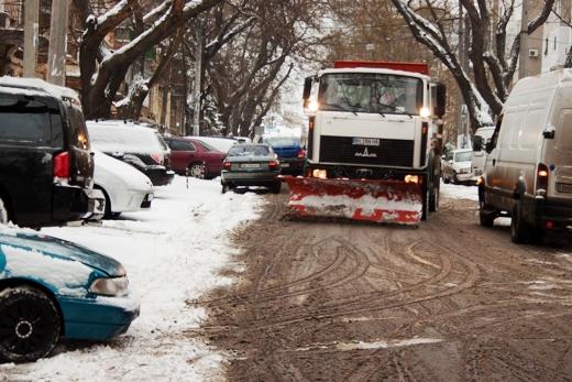 В Одессе коммунальщики убирают снег (ФОТО), фото-15