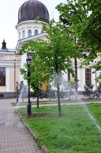 DSC_7512 В Одессе Соборную площадь оборудовали системой автополива