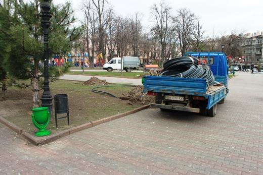 IMG_7316 В Одессе Соборную площадь оборудовали системой автополива