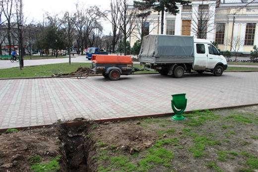 IMG_7320 В Одессе Соборную площадь оборудовали системой автополива