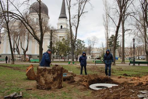 IMG_7325 В Одессе Соборную площадь оборудовали системой автополива