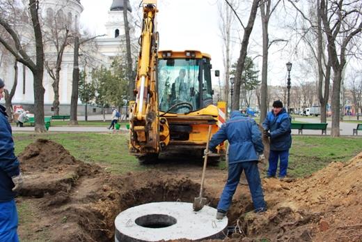 IMG_7328 В Одессе Соборную площадь оборудовали системой автополива