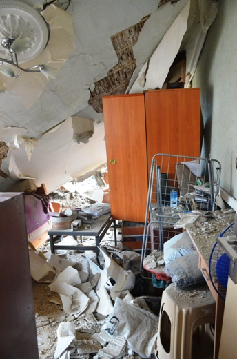 DSC_7770 Семью из разрушенного в Одессе дома отселили в гостиницу