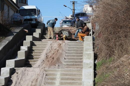 IMG_4135 На одесском Фонтане ремонтируют лестницу к морю