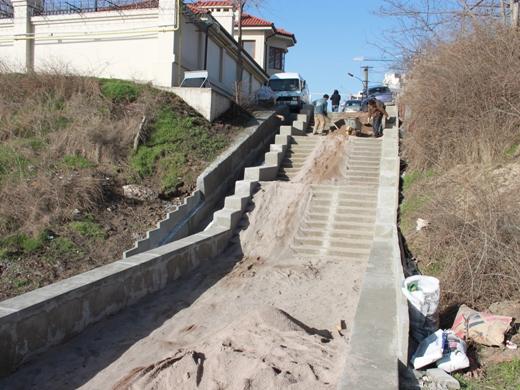 IMG_6716 На одесском Фонтане ремонтируют лестницу к морю