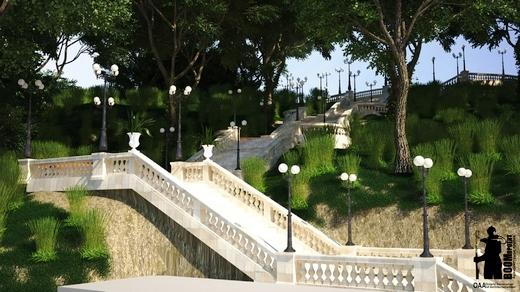 10 Мраморную лестницу в Аркадии восстановят уже весной