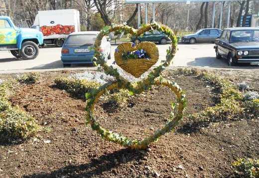DSCN0253 К 8 марта в Одессе подготовили несколько цветочных композиций на клумбах