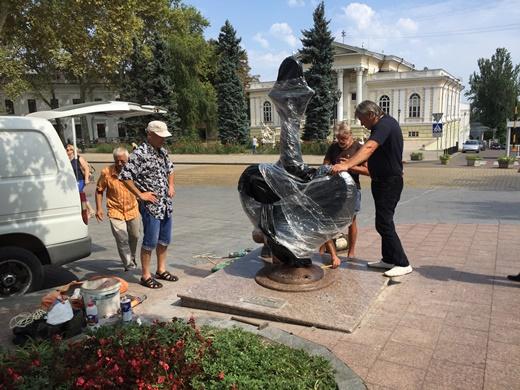 4 Якорь Одессы на место вернули меценаты