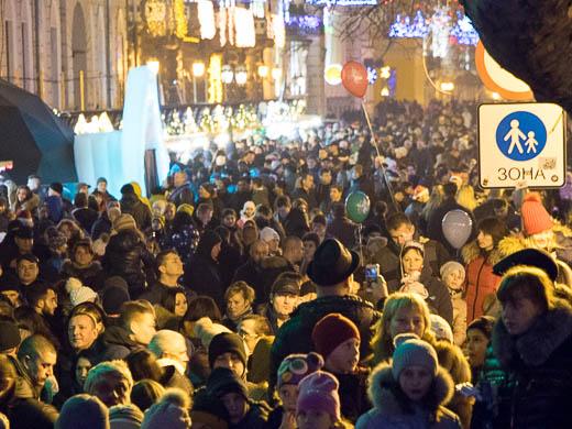 Как Одесса встретила Новый год: большой фоторепортаж фото 43