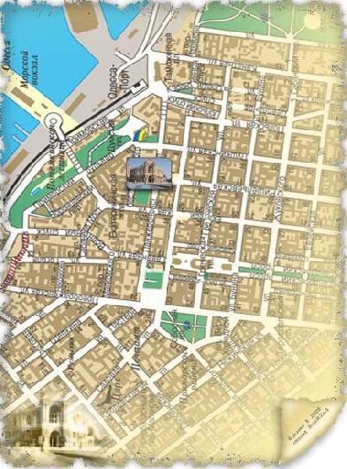 Карта гостиниц Одессы