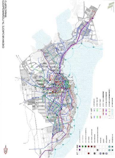 Схема городского и загородного