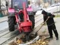 Одесский Горзелентрест выполняет работы по корчевке пней и высадке на их места деревьев