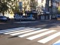 По улице Пастера в Одессе нанесена новая дорожная разметка
