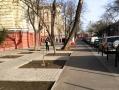 Капремонт тротуара по Ольгиевской: велодорожки, тротуарная и тактильная плитки, парковочные карманы и антипарковочные столбики
