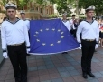 The flag of Europe was solemnly raised in Odessa. Picture story