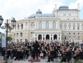 Strauss waltzes sounded near the famous Odessa Opera Theatre on the Day of Europe