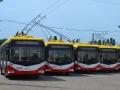6 новых троллейбусов прибыли в Одессу. Фото