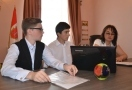 Schoolchildren in Odessa had developed the social internet project for blind and visually impaired people.