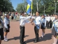 The schoolchildren of Odessa reverently keep the Honorable watch at the Monument to the Unknown Sailor