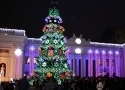 Many odessites celebrated New 2015 Year near by the main Christmas tree at the Dumska Square. Picture story