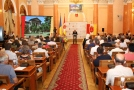 The Mayor of Odessa Gennadiy Trukhanov gave a report to odessites. Picture story