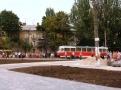 В Одессе продолжается благоустройство разворотного кольца трамваев на Итальянском бульваре. Фото