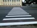 В Одессе продолжают обновлять разметку у школ и детсадов