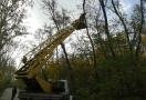 На одесской Трассе здоровья проводится санитарная обрезка деревьев