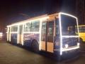По Одессе курсируют новогодние трамваи и троллейбусы