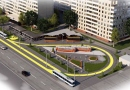 В Одессе продолжается благоустройство территории разворотного кольца трамвая на 6 ст. Б. Фонтана