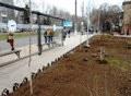Одесский Горзелентрест благоустраивает сквер Героев-летчиков