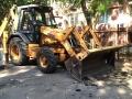 В Шампанском переулке ведутся работы по капитальному ремонту тротуара. Фото