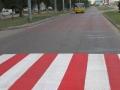 В сентябре на одесских дорогах нанесено более двух тысяч квадратных метров разметки