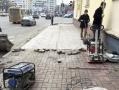В Одессе завершают благоустройство тротуаров Адмиральского проспекта. Фото